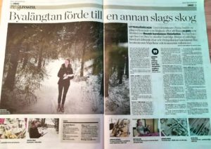 Reportage i Norran om Elisabeth Biström, akvarellkonstnär