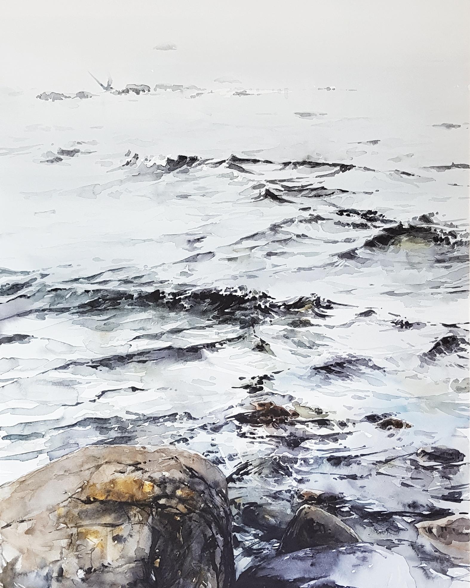 En akvarellprocess steg för steg, av Elisabeth Biström 2019