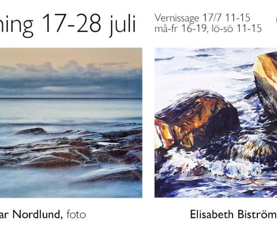 Utställning på Galleri1 i Skellefteå med Elisabeth Biström och Gunnar Nordlund